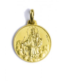 Our Lady of Mount Carmel gold plated medal