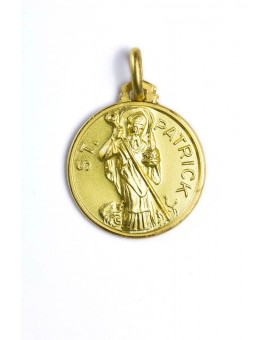 St. Patrick gold plated medal