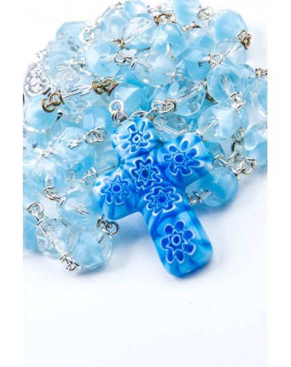 Sky Blue Murrina Rosary