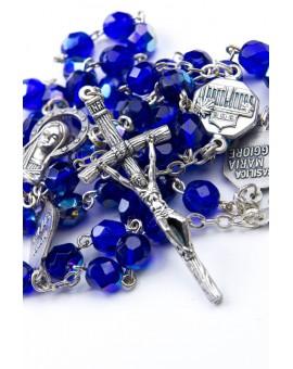 Four Basilicas Blue Rosary
