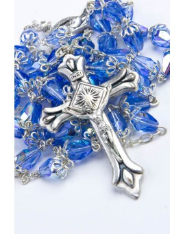 Sky crystal drop Rosary