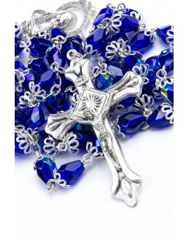 Blue crystal drop Rosary