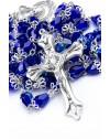 Blue crystal drop Rosary