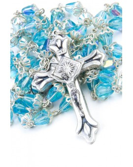 Light Sky crystal drop Rosary