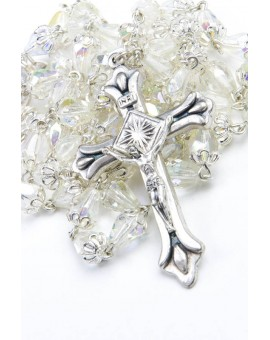 Clear crystal drop Rosary
