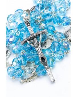 Four Basilicas Sky Blue Rosary