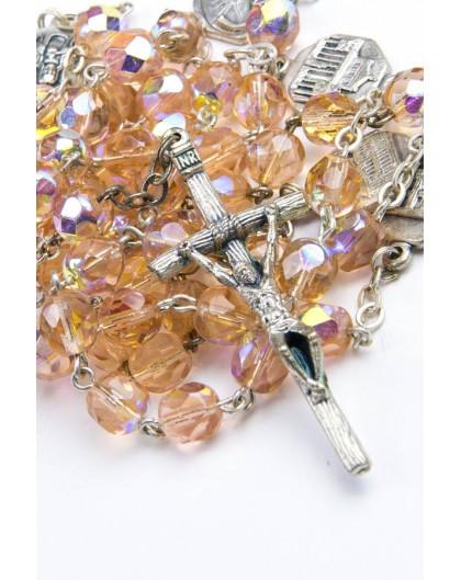 Four Basilicas Peach Rosary