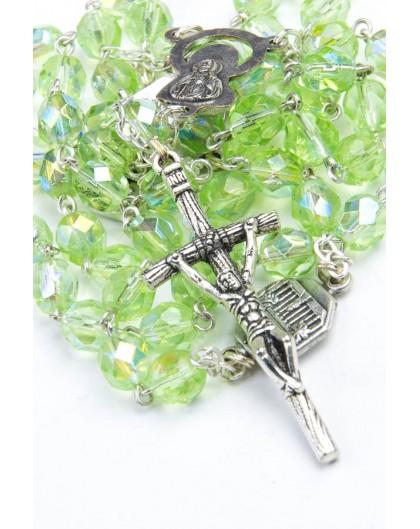 Four Basilica Light Green Rosary