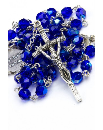 Four Basilicas Blue Rosary small