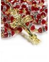 Red Swarovski Crystal beads Rosary