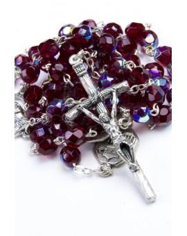 Four Basilicas Garnet Rosary small