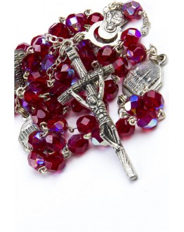 Four Basilicas Red Rosary small