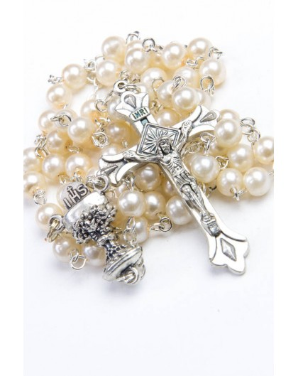 Holy Communion Pearl Rosary