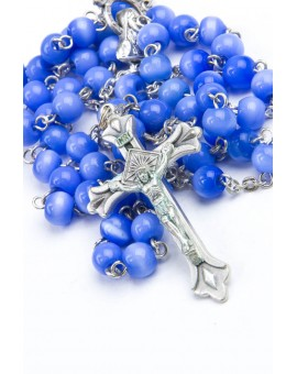 Blue Cat's Eye Rosary
