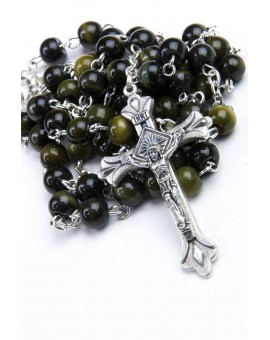 Dark brown Cat's Eye Rosary