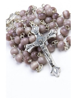 Pale brown Cat's Eye Rosary