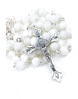 White Cat's Eye Rosary