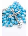 Sky Blue Cat's Eye Rosary