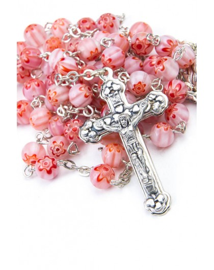 Murrina Pink Rosary small