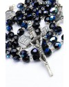 Four Basilicas Black Rosary small
