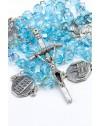 Four Basilicas Sky Blue Rosary small