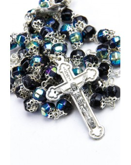 Black Crystal Metal Rosary
