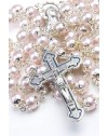 Glass Pearl pink Rosary