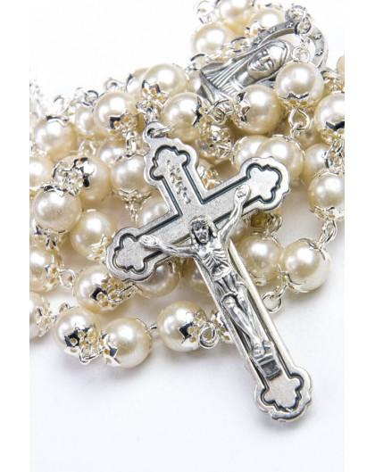 Glass Pearl Natural Rosary