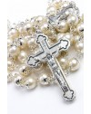 Glass Pearl Natural Rosary