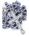 Glass Pearl Dark Gray Rosary