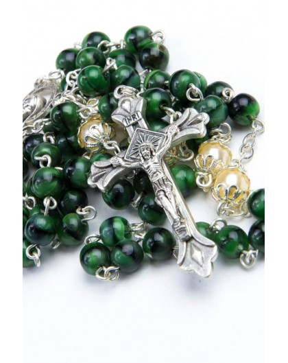 Green and Pearl Glass