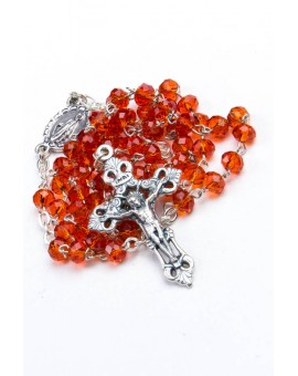 Red Glass Faceted Glass Rosary 3mm beads