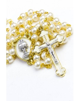 Holy Communion  Pearl white Rosary