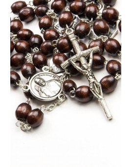 Wood Four Basilicas Rosary