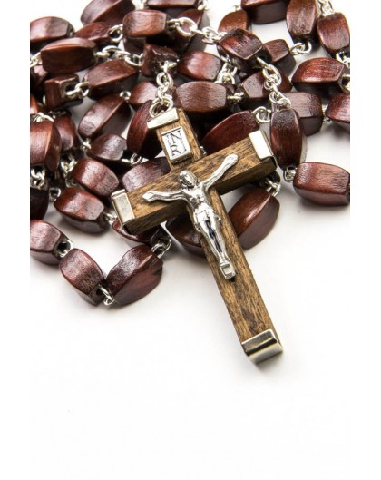 Dark wood faceted Rosary