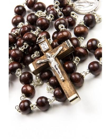 Dark wood beads Rosary