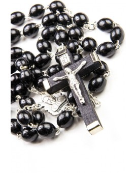 Black wood Rosary