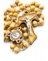 Tau Crucifix Ulive Woode Rosary with Pope Francis