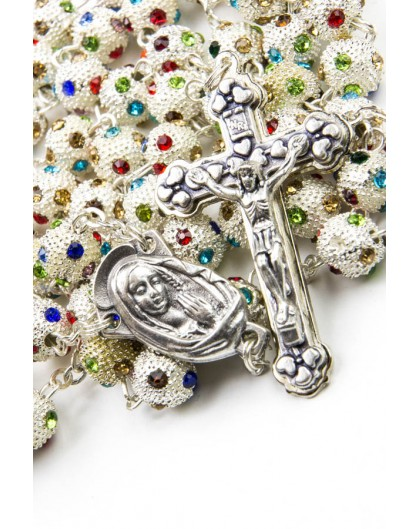 Metal Rosary with Strass