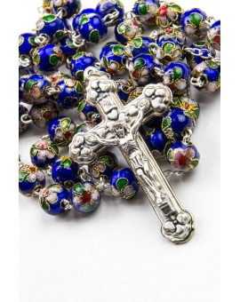 Deep Blue Cloisonne Rosary