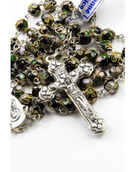 Black Cloisonne small Rosary