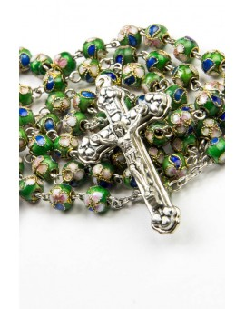 Green Cloisonne small Rosary
