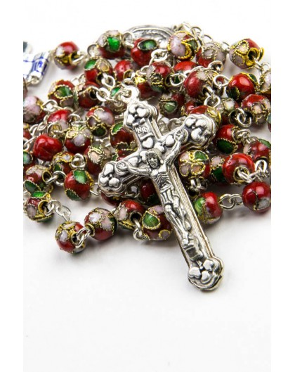 Red Cloisonne small Rosary