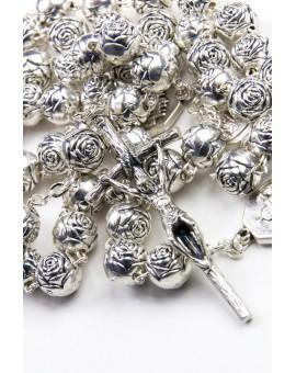 Metal Roses Rosary 4 Basilicas