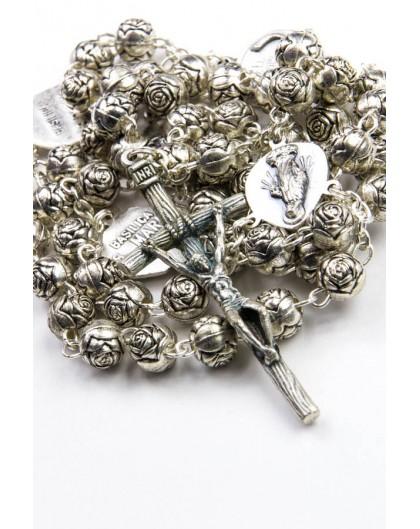 Metal Roses Four Basilicas small Rosary