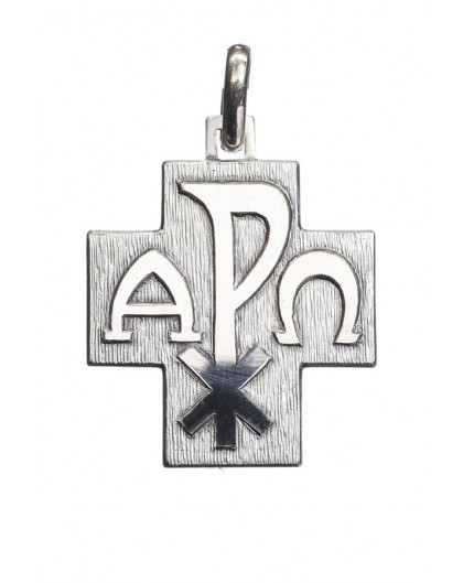 Alpha Omega Cross Pendant Sterling silver