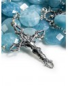 Aquamarine Flat Beads Precious Rosary
