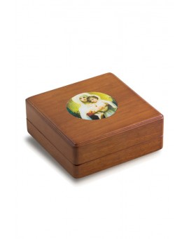 White Virgin Mary Rosary Box