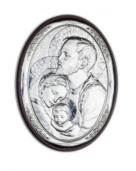 Holy Family Bilaminate Sterling Silver 0819