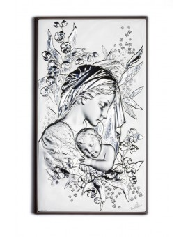 Sleeping Jesus Baby Bilaminate Sterling Silver 2651